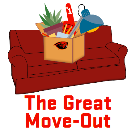 Illustrated image of a couch with a moving box.