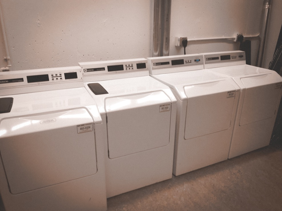 two washers and two driers