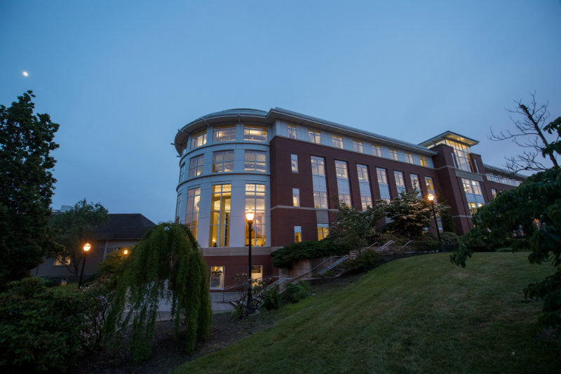 The library at dusk