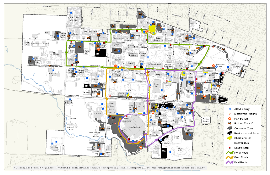Campus Boundary Map Office Of Student Life Oregon State University - State of oregon map